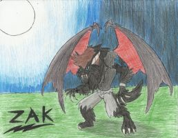 Werepyre Zak sketch by CaliforniaHunt24