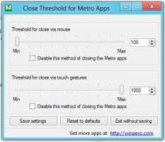 Close Threshold for Metro Apps by hb860