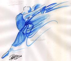 Blue Ballerina by Armadeo