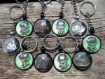 For Sale: N+Team Dot Sprite Campaign Keychains~ by BlackManaBurning