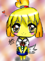 Isabelle (Animal Crossing) by leafyloo