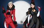 Bayonetta and Jeanne by blackmoonrose13