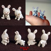 Tiny Demented Fuzzy Bunnies by Undead-Art