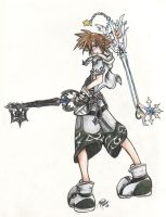 KH2 Sora 'White Version' by dragonnova