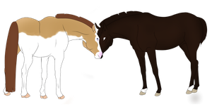 Breeding Pic Never and Sno Vulkan by TitaniumTwonicorn