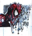 zombie spiderman (sketch card) color by BiggDave
