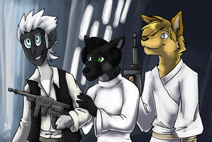 The New Star Wars Trio by Blairaptor