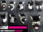 Luna - Custom Head Commission by Luminary by OurMassHysteria
