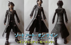 Sword Art Online: Kirito Papercraft by SMDgamer27