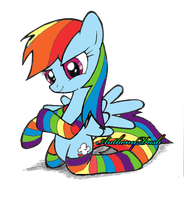Rainbow Dash Socks by AnthonyDash