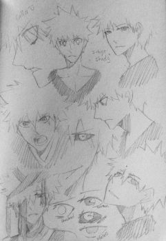 Bleach- Ichigo study  by calladraws
