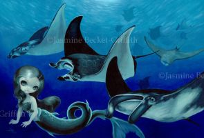 Manta Ray Mermaid by jasminetoad