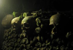 Skulls in the Catacombs Stock by prudentia