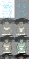 Korra's Light: Process by CarishinLove