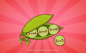 Kawaii Peas by junoteamvn