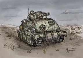 rusty tank by Ulyanovetz