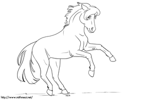 Horse Line Art by Greykitty