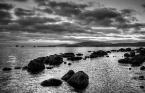 English Bay BW by DTherien