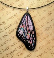 Graffiti Butterfly Wing Fused Glass by FusedElegance