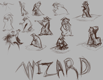 Wizard sketches by LDethHorse