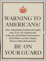 A Warning to Americans by poasterchild