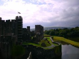 Caerphilly Castle Overview by Aelfwynne