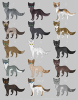Feline Point Adoptables [ Closed ] by Kitsanil