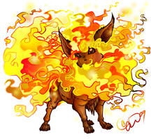 Pokemon - 136 Flareon by BLACK-HEART-SPIRAL