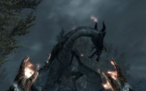 The undone loading Dragon's Attack Skyrim by Annatiger1234