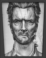 Clint Eastwood Zbrush Portrait by FoxHound1984
