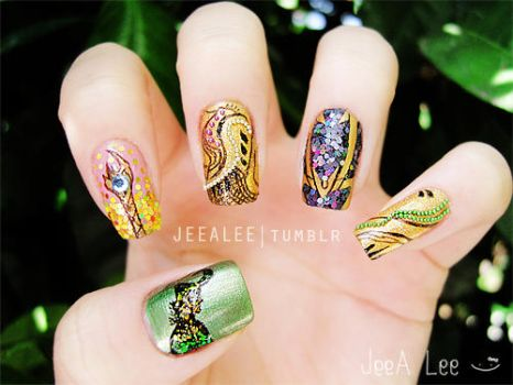 Loki Nails by jeealee