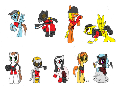 MLP:FiM and TF2 - Pony Fortress 2 by SigmatheArtist