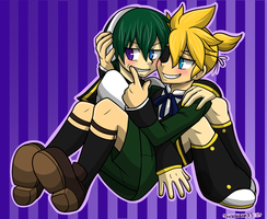 Ciel and Len by TheWardenX3