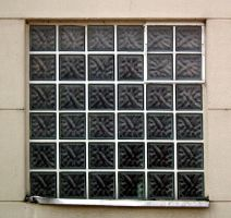 Glass Brick Window by Limited-Vision-Stock