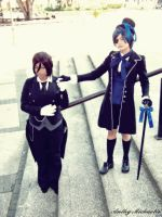 Ciel and Sebastian by AnthyMichaelis