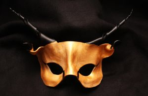 Golden Gazelle Mask by badwolfmasks