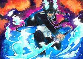 Ao no Exorcist by FranyBerry