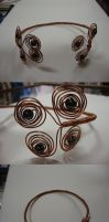 Copper Wire and Magnetic Hemitite Choker by TDGG