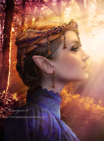 Queen of the Elves by Morrigan-LE