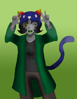 Homestuck - Nepeta by Stareon
