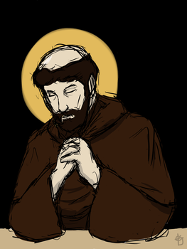 Saint Francis in Contemplation by AgentSAMa