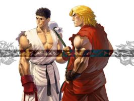 street fighter 3 - ryu - ken by ilison