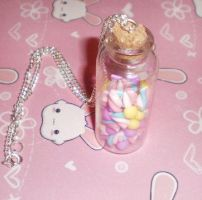 Fimo Jar of sweeties by kawaii-fimo-girl