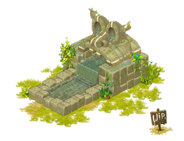 Fontaine / Fountain - Dofus - Wakfu ... WIP (2) by Weequays