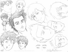 Green Day - sketchdump 6 by kelly42fox
