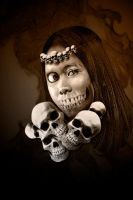 People Art: Skull Queen by ice-works