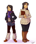 AU Fuyuko and Mayu Ref (older) by Ric-M