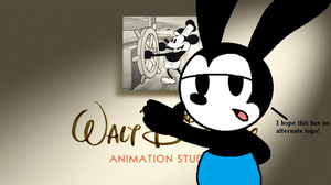 Oswald talks about Walt Disney Animation logo by MarcosLucky96