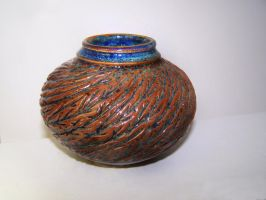 Carved Woos Blue Vase IV by RenaissanceMan1