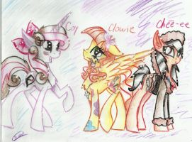 Coy,Clowie and Chee-ee by AnimeRocks234